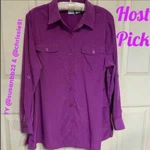 Roaman's Plus Size Long Sleeve Blouse - Sz 20W